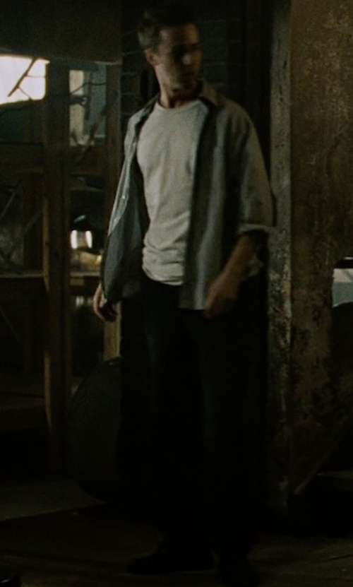 Edward Norton with Nudie Jeans Co Straight Leg Jeans in Fight Club
