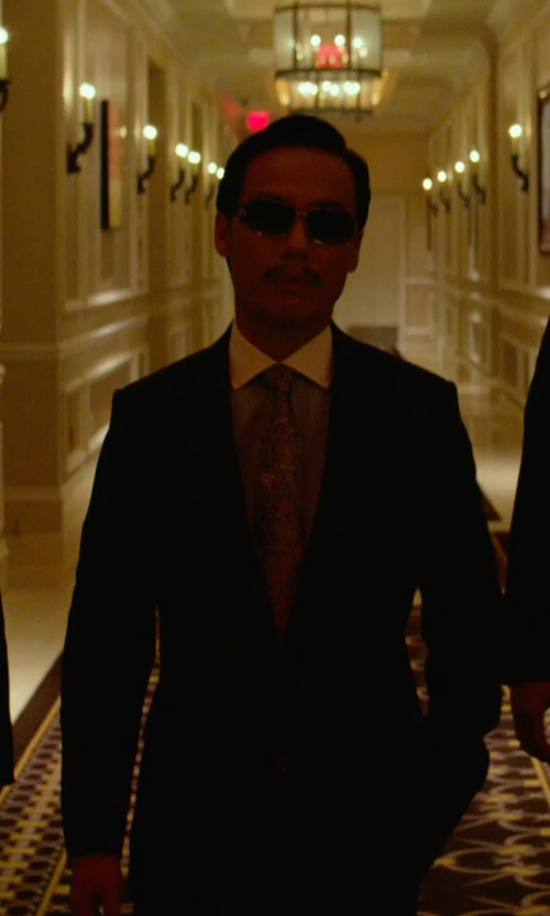BD Wong with David Donahue 'Ryan' Classic Fit Check Suit in Focus