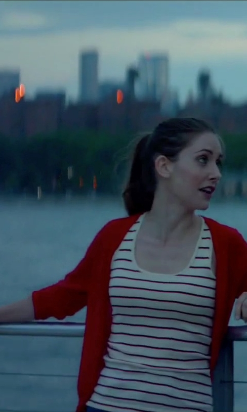 Alison Brie with Splendid Cayman Stripe Tank Top in Sleeping with Other People