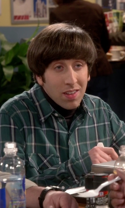 Simon Helberg with Urban Outfitters Salt Valley Tufts Plaid Western Shirt in The Big Bang Theory