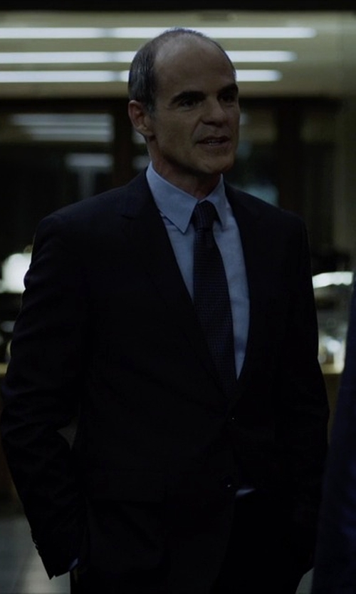 Michael Kelly with Burberry London Slim-Fit Wool Suit in House of Cards