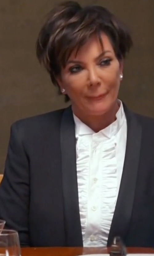 Kris Jenner with ATM Anthony Thomas Melillo Shawl Collar Blazer in Keeping Up With The Kardashians