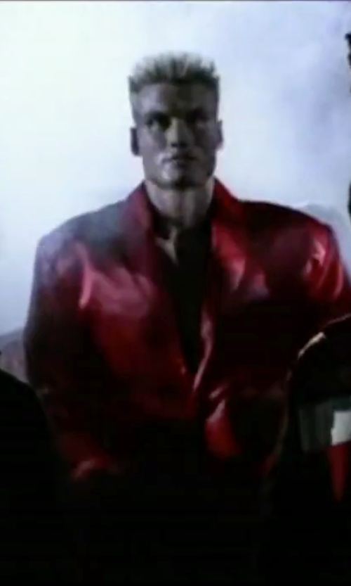 Dolph Lundgren with Robe Factory Drago Satin Robe & Boxer Short Set in Rocky IV