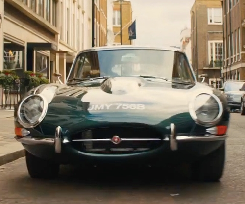 Taron Egerton with Jaguar 1964 E-Type Coupe in Kingsman: The Golden Circle