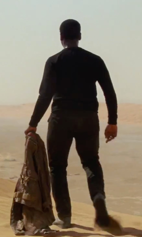 John Boyega with Frye Men's Warren Lace Up Boots in Star Wars: The Force Awakens