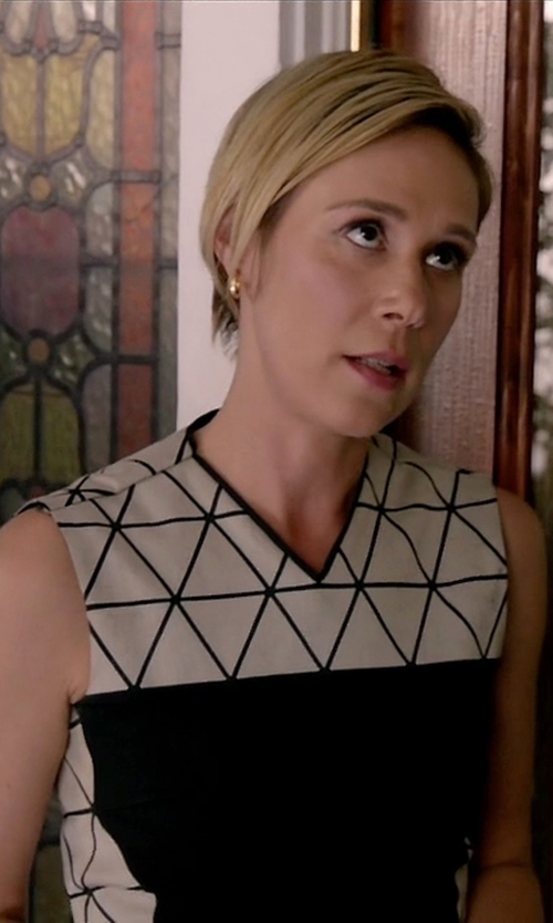 Liza Weil with Victoria Beckham Triangle Panel Dress in How To Get Away With Murder