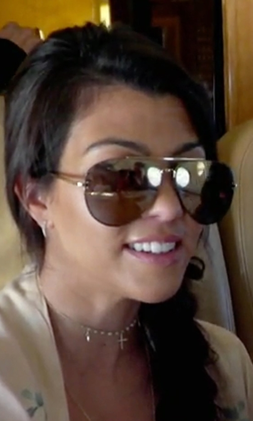 Kourtney Kardashian with Celine MV Metal Aviator Sunglasses in Keeping Up With The Kardashians