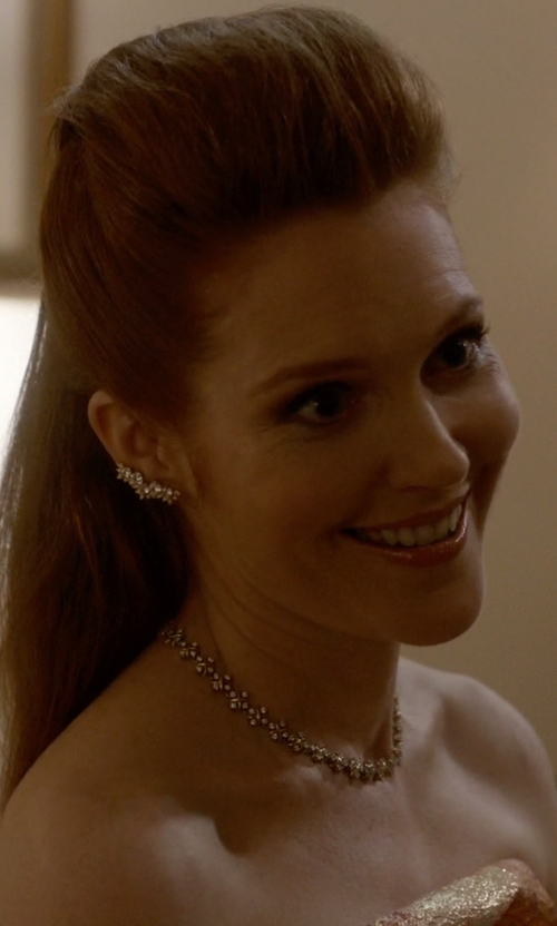 Darby Stanchfield with Kenneth Jay Lane Marquis Winged CZ Ear Crawlers in Scandal