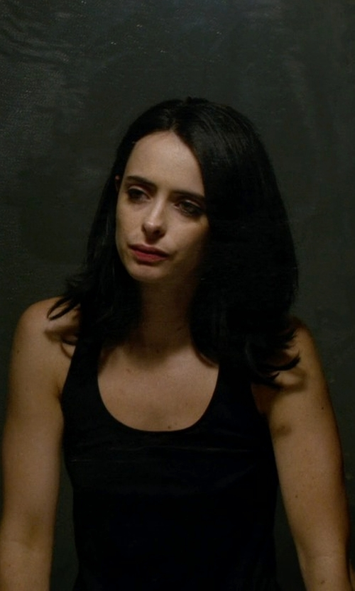 Krysten Ritter with Michael Stars Slub Racerback Tank Top in Jessica Jones