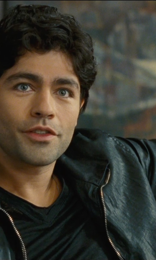 Adrian Grenier with John Varvatos Canvas Zip Jacket in Entourage