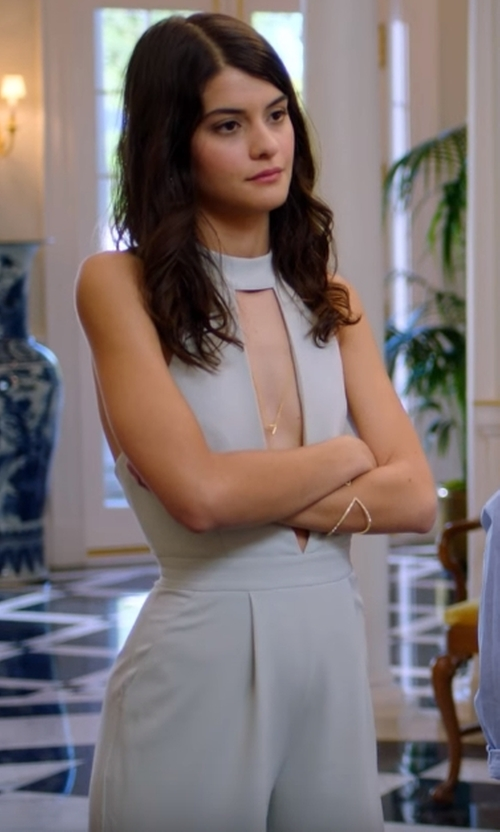 Sofia Black-D'Elia with Missguided Choker Split Front Jumpsuit  in The Mick