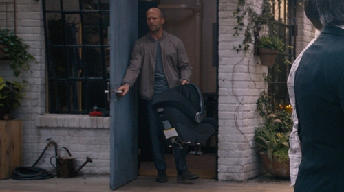Jason Statham with Armani Collezioni Jersey V-Neck T-Shirt in The Fate of the Furious