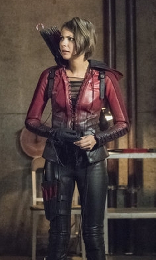 Willa Holland with Maya Mani (Costume Designer) Custom Made 'Speedy' Costume in Arrow