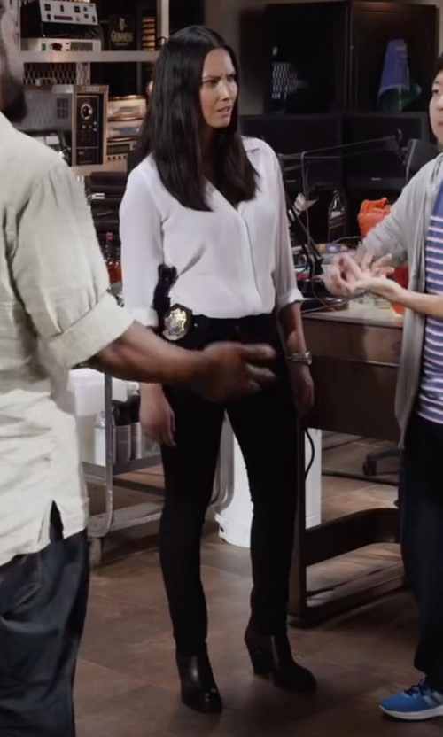 Olivia Munn with Acne Studios 'Star' Ankle Bootie in Ride Along 2
