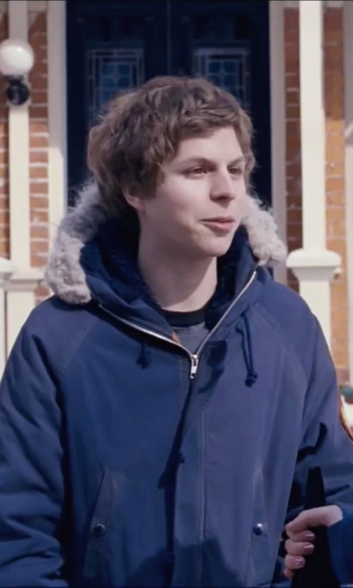 Michael Cera with Michael Kors Long Hooded Parka in Scott Pilgrim Vs. The World