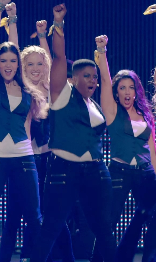 Ester Dean with Paige Edgemont-Kensington Pants in Pitch Perfect 2