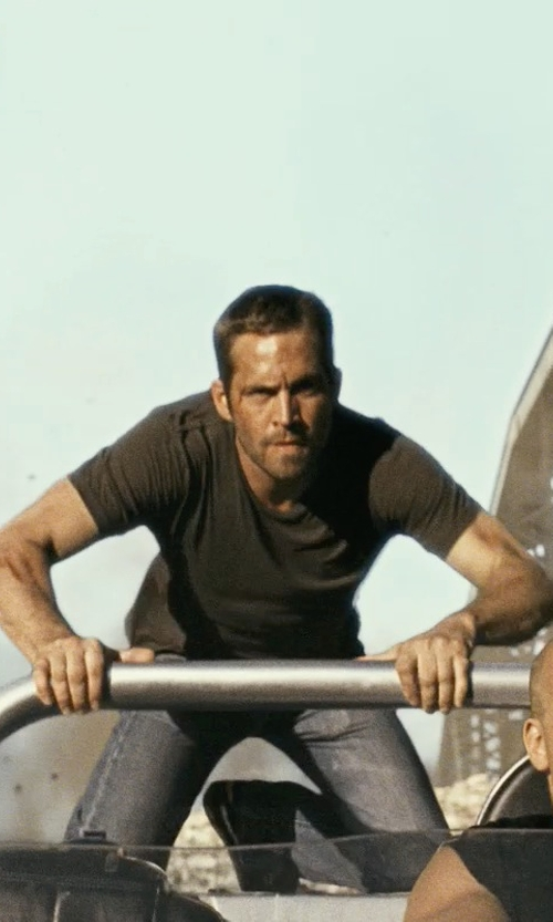 Paul Walker with Cotton Citizen Crew T-Shirt in Fast Five