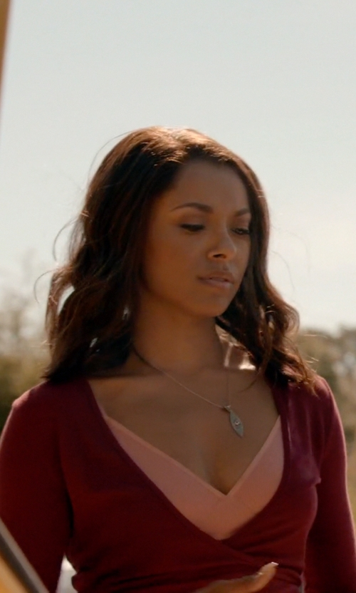 Kat Graham with Kimchi Blue Crush Wrap Top in The Vampire Diaries
