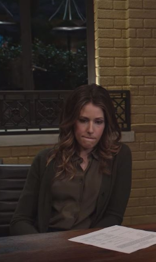 Amanda Crew with Splendid  Kodiak Knits Cardigan in Silicon Valley