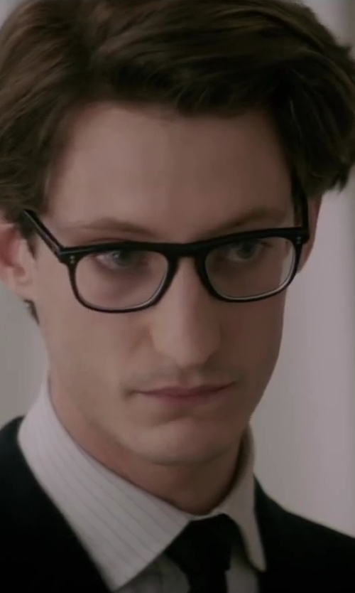 Pierre Niney with Saint Laurent Silk and Velved Solid Silk Narrow Tie in Yves Saint Laurent