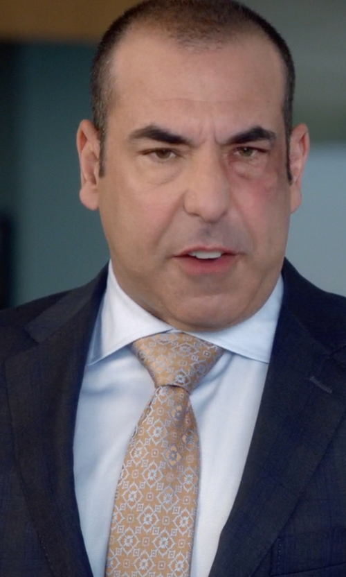 Rick Hoffman with Charvet	 Solid Poplin Dress Shirt in Suits