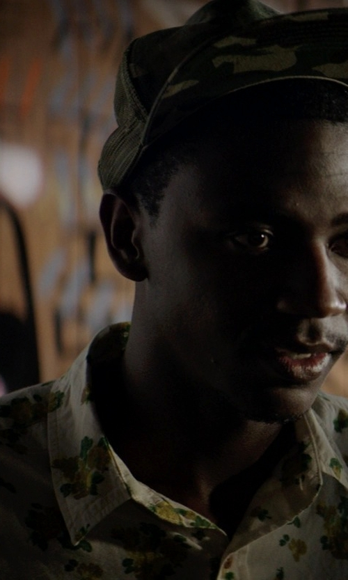 Jerrod Carmichael with SSLR Men's Flower Buttondown Short Sleeve Shirt in Neighbors