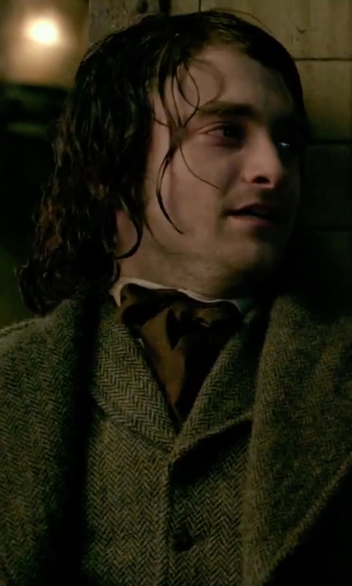 Daniel Radcliffe with Oliver Spencer Tweed Vest in Victor Frankenstein