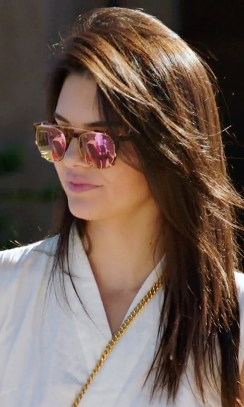 Kendall Jenner with Wildfox Airfox II Deluxe Mirrored Aviator Sunglasses in Keeping Up With The Kardashians