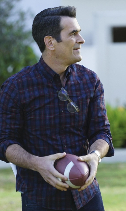 Ty Burrell with Obey Highland Button Down Shirt in Modern Family