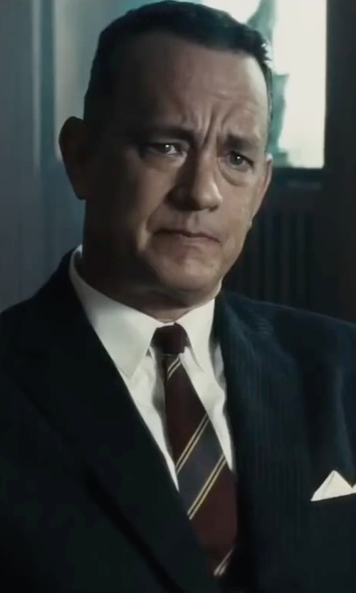 Tom Hanks with Brooks Brothers Madison Fit Spread Collar Dress Shirt in Bridge of Spies