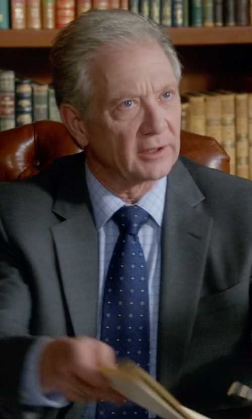 Jeff Perry with Cufflinks Inc. Polka Dot Wool Tie in Scandal