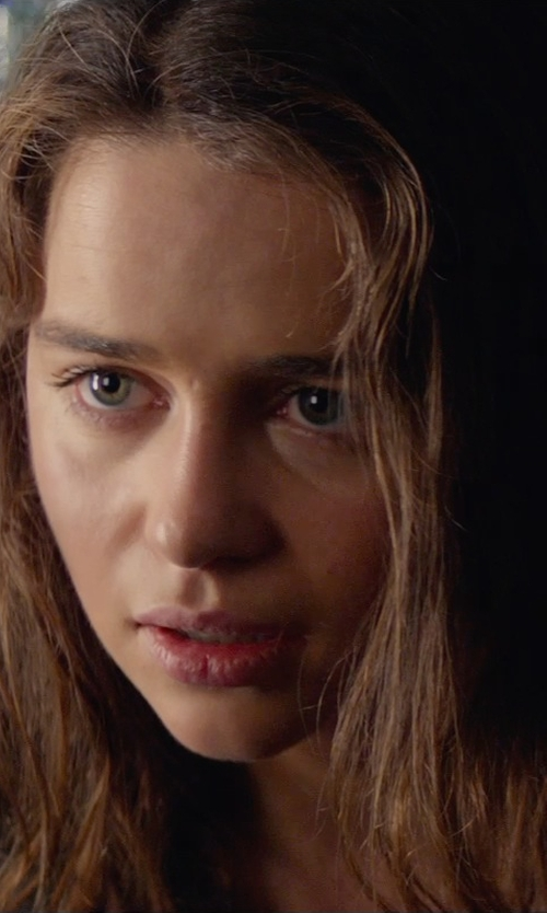 Emilia Clarke with Neiman Marcus V-Neck Sweater in Terminator: Genisys