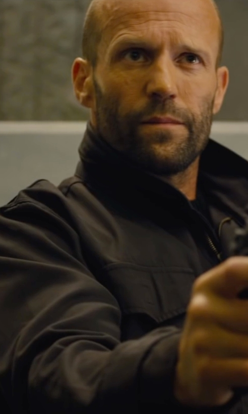 Jason Statham with Helmut Lang Patch Pocket Jacket in Mechanic: Resurrection