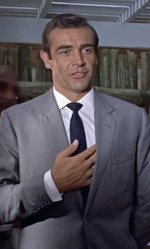 Sean Connery with Hart Schaffner Marx 'New York' Classic Fit Wool Suit in Dr. No