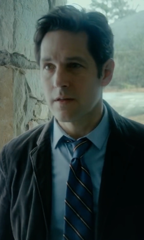 Paul Rudd with Tommy Hilfiger Autumn Stripe Two Tie in The Fundamentals of Caring
