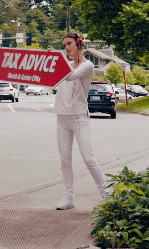 Keira Knightley with AG Adriano Goldschmied The Stilt Cigarette Jeans in Laggies