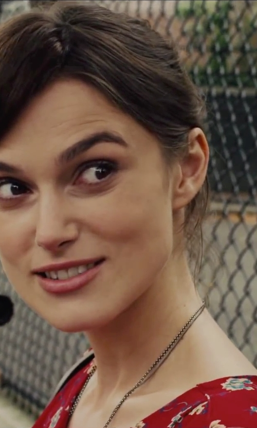 Keira Knightley with Band of Outsiders Floral Print Dress in Begin Again