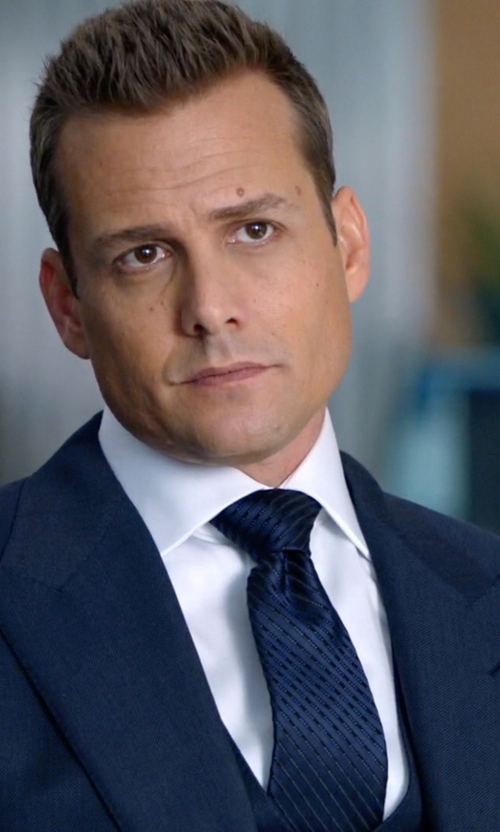 Gabriel Macht with Stafford Aston Textured & Stripe Tie in Suits