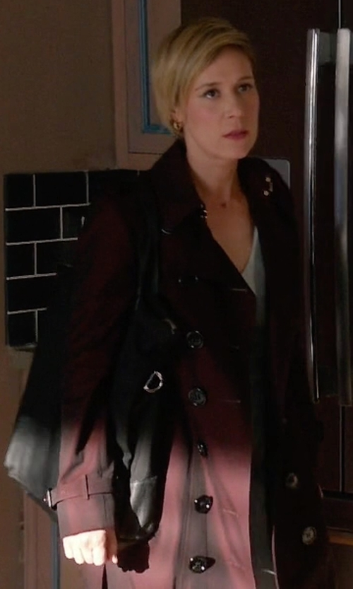 Liza Weil with Ralph Lauren Full-Length Jacket in How To Get Away With Murder