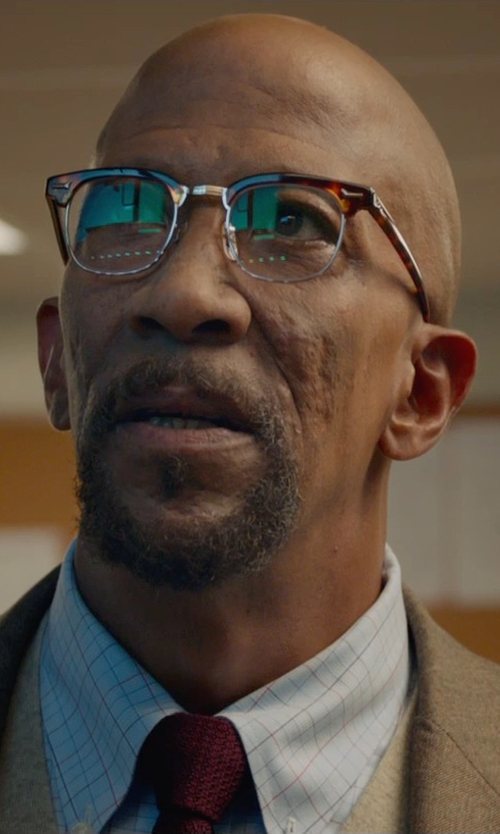 Reg E. Cathey with Tom Ford Thin-Striped Knit Tie in Fantastic Four