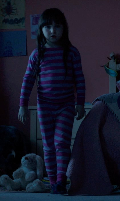 Kennedi Clements with Skylar Luna Long Sleeves Organic Cotton Pajamas in Poltergeist