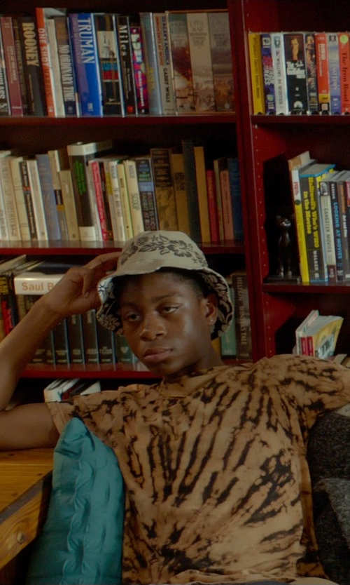 RJ Cyler with Tie-Dyed Cotton Tie-Dyed T-Shirt in Me and Earl and the Dying Girl