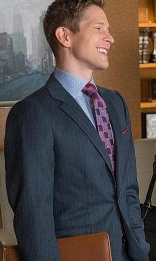 Matt Czuchry with Boss Hugo Boss   Slim Fit Striped Two-Piece Wool Suit in The Good Wife