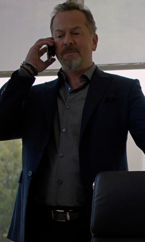 David Costabile with Dsquared2 Tokyo Slim Fit Stretch Wool Suit in Billions