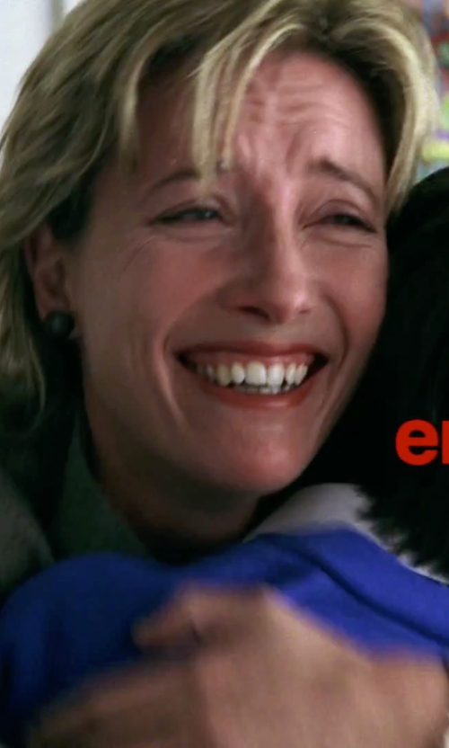 Emma Thompson with In Cashmere Open Front Cashmere Cardigan in Love Actually