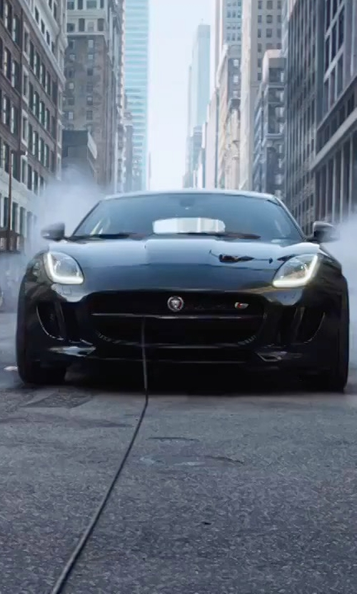 Unknown Actor with Jaguar F-Type Coupe in The Fate of the Furious