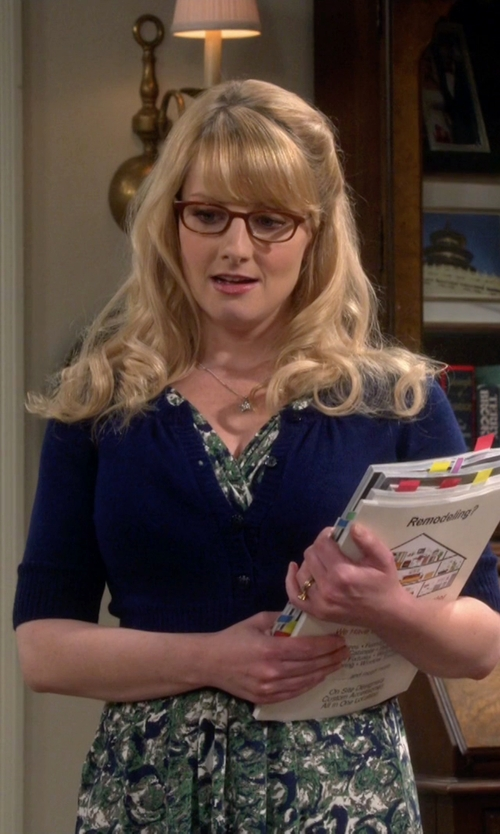 Melissa Rauch with Clips More Wrap-Around Cardigan in The Big Bang Theory
