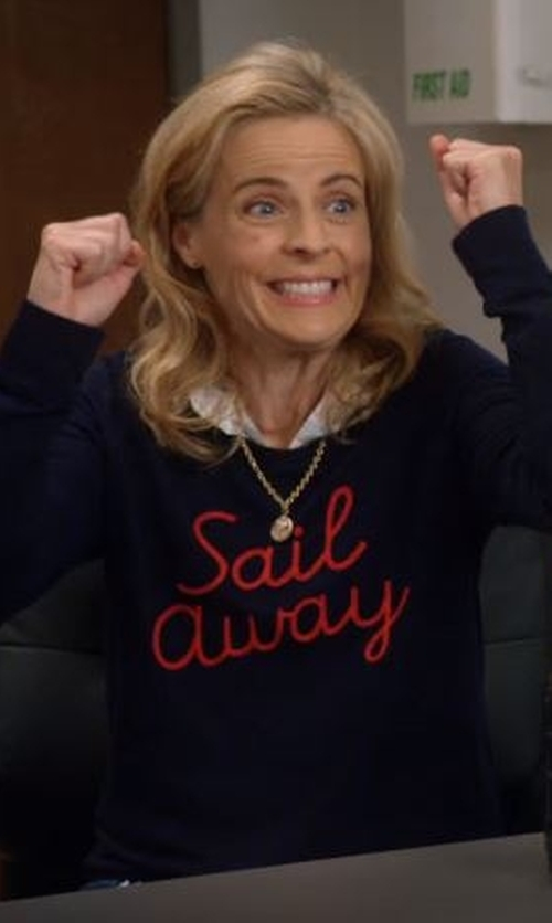 Maria Bamford with Lord & Taylor Engraved Oval Locket Necklace in Lady Dynamite