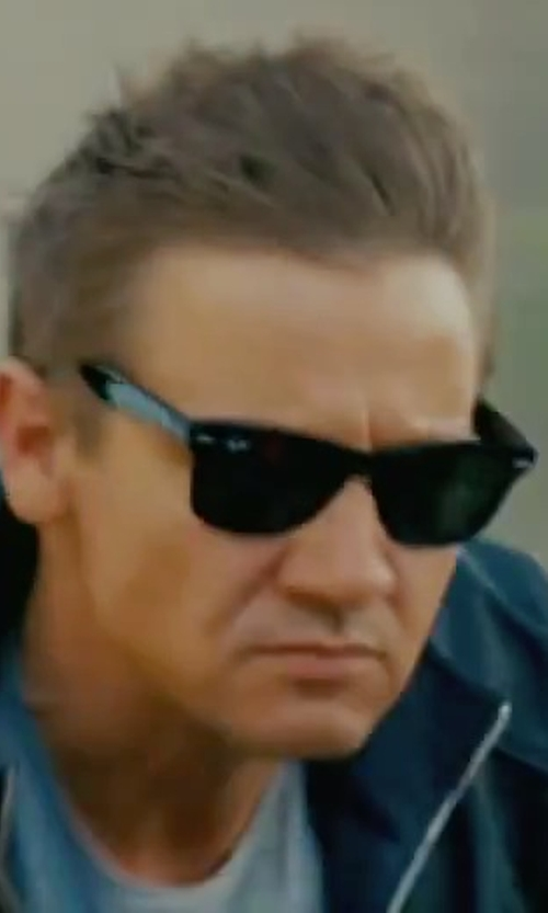 Jeremy Renner with Ray-Ban RB2140 Wayfarer Sunglasses in The Bourne Legacy