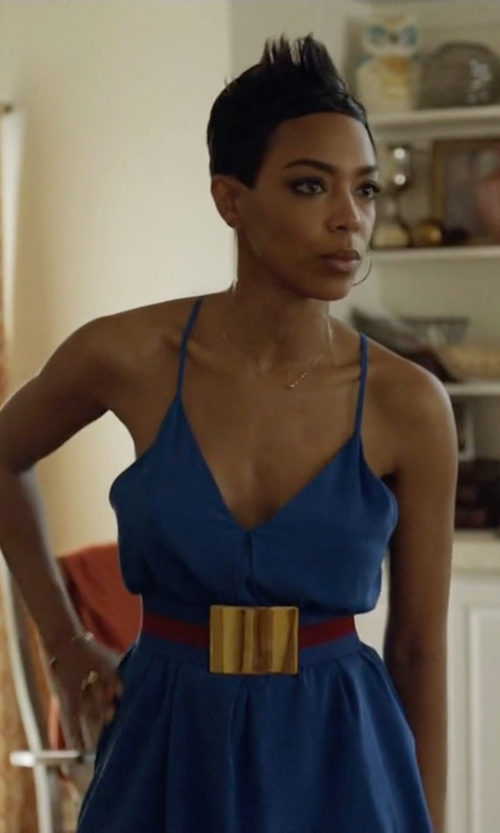 Jazmyn Simon with Bony Levy Ball Pendant Necklace in Ballers